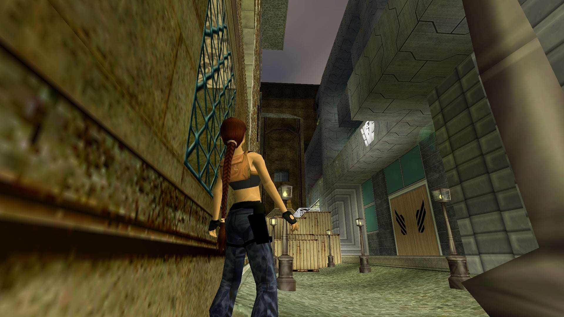 A screenshot from the Tomb Raider custom level called The Victoria Stone