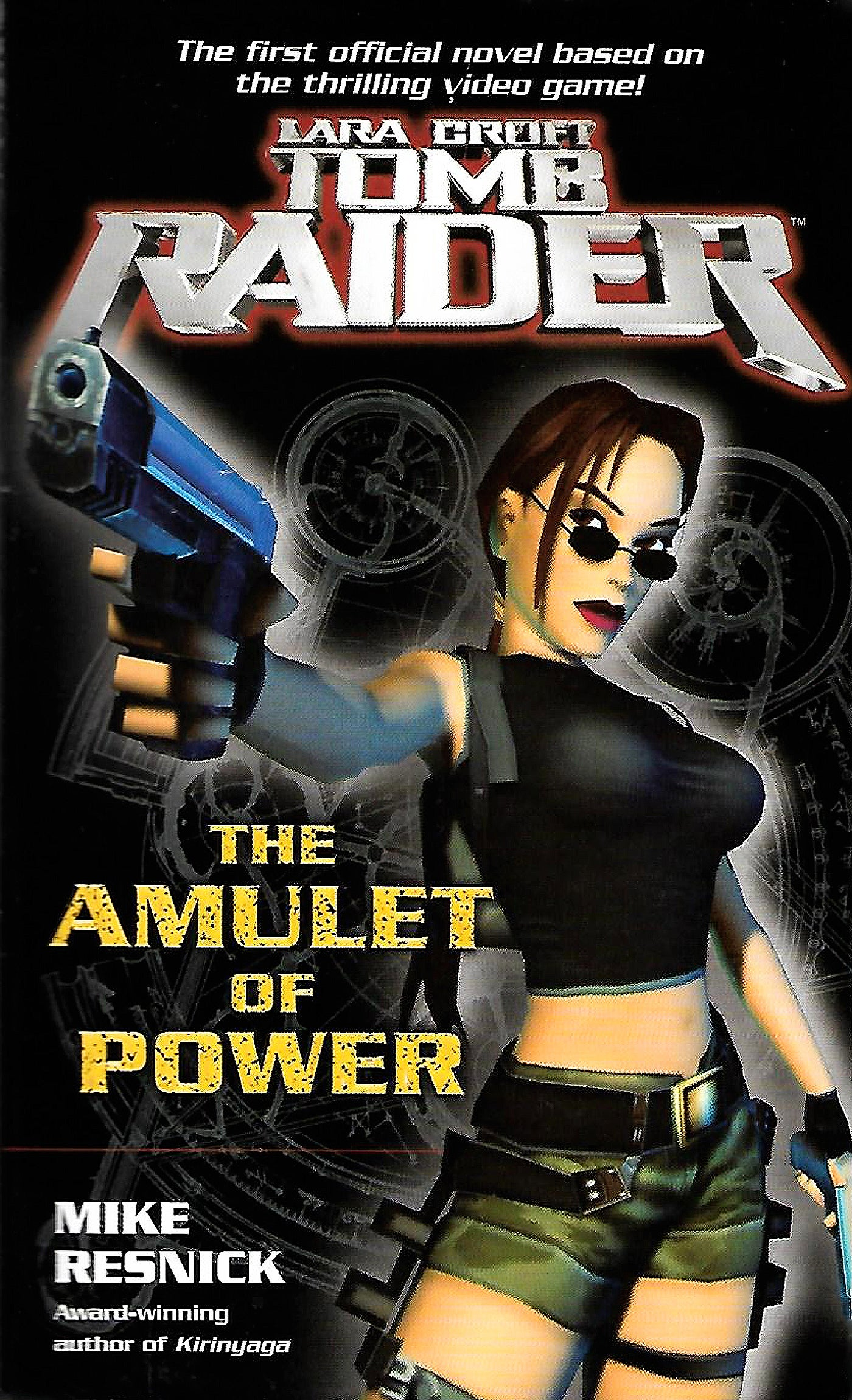 The front cover of novel Lara Croft Tomb Raider: The Lost Amulet