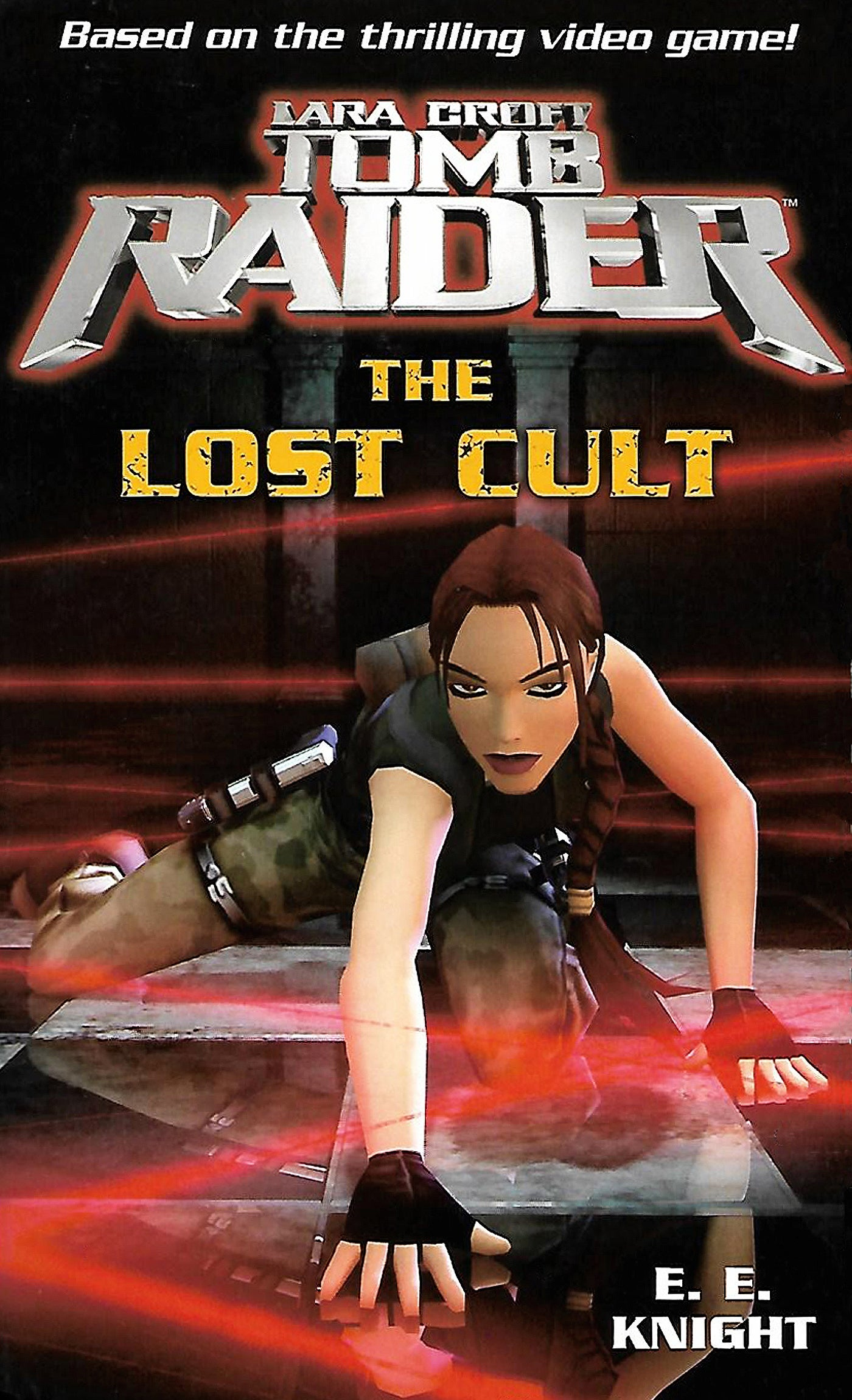 The front cover of novel Lara Croft Tomb Raider: The Lost Cult
