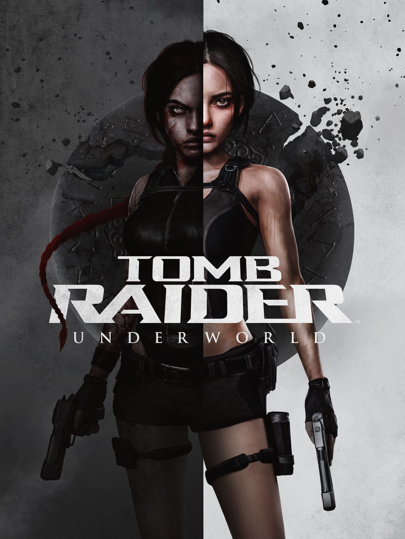 Tall cropped version of Laura H. Rubin's box art reimagining of Tomb Raider: Underworld