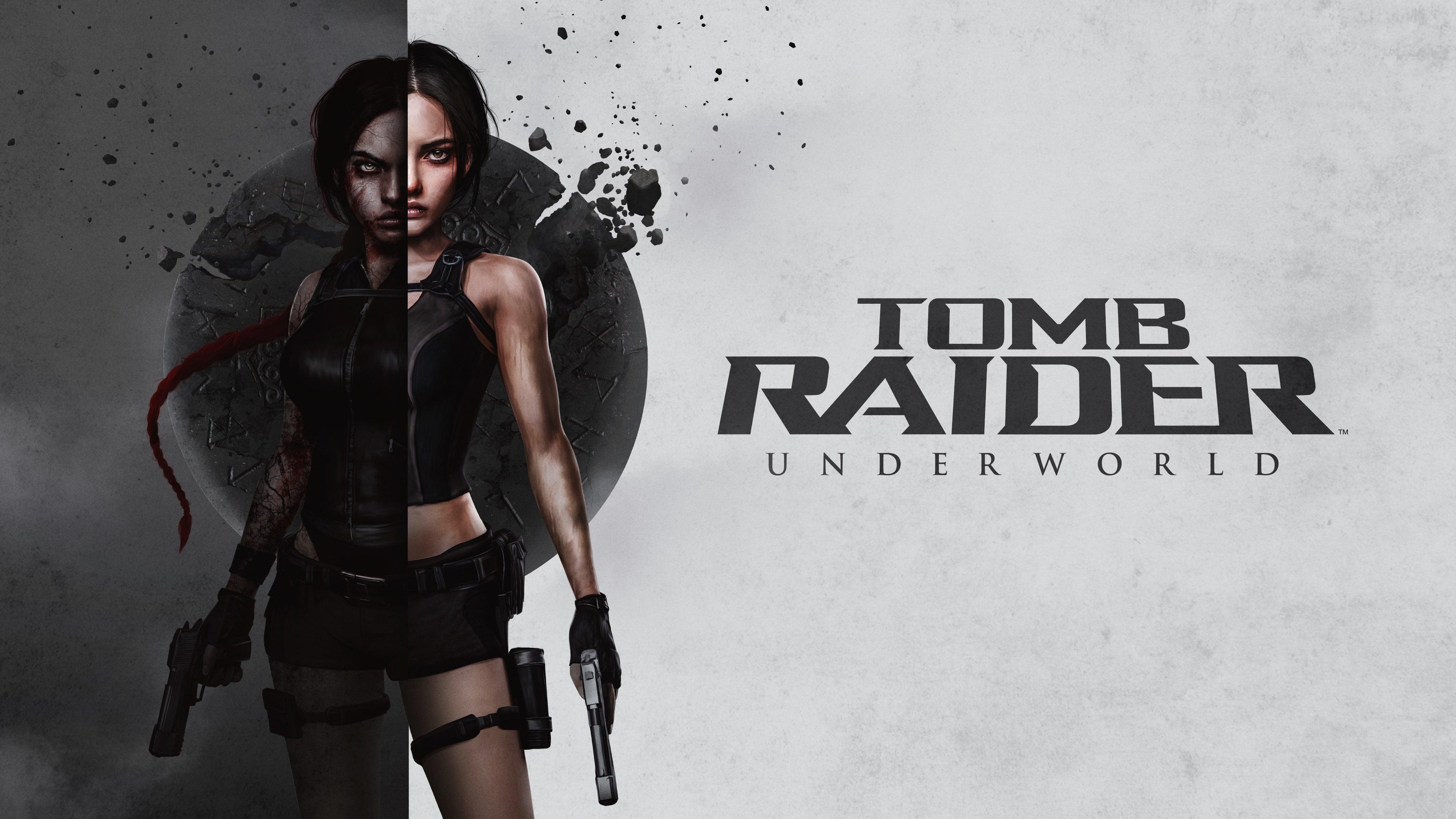 Full version of Laura H. Rubin's box art reimagining of Tomb Raider: Underworld