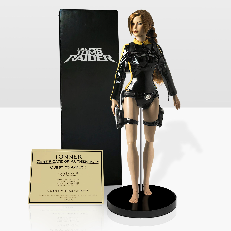 """Quest to Avalon"" Tonner doll of Lara Croft from Tomb Raider: Underworld"
