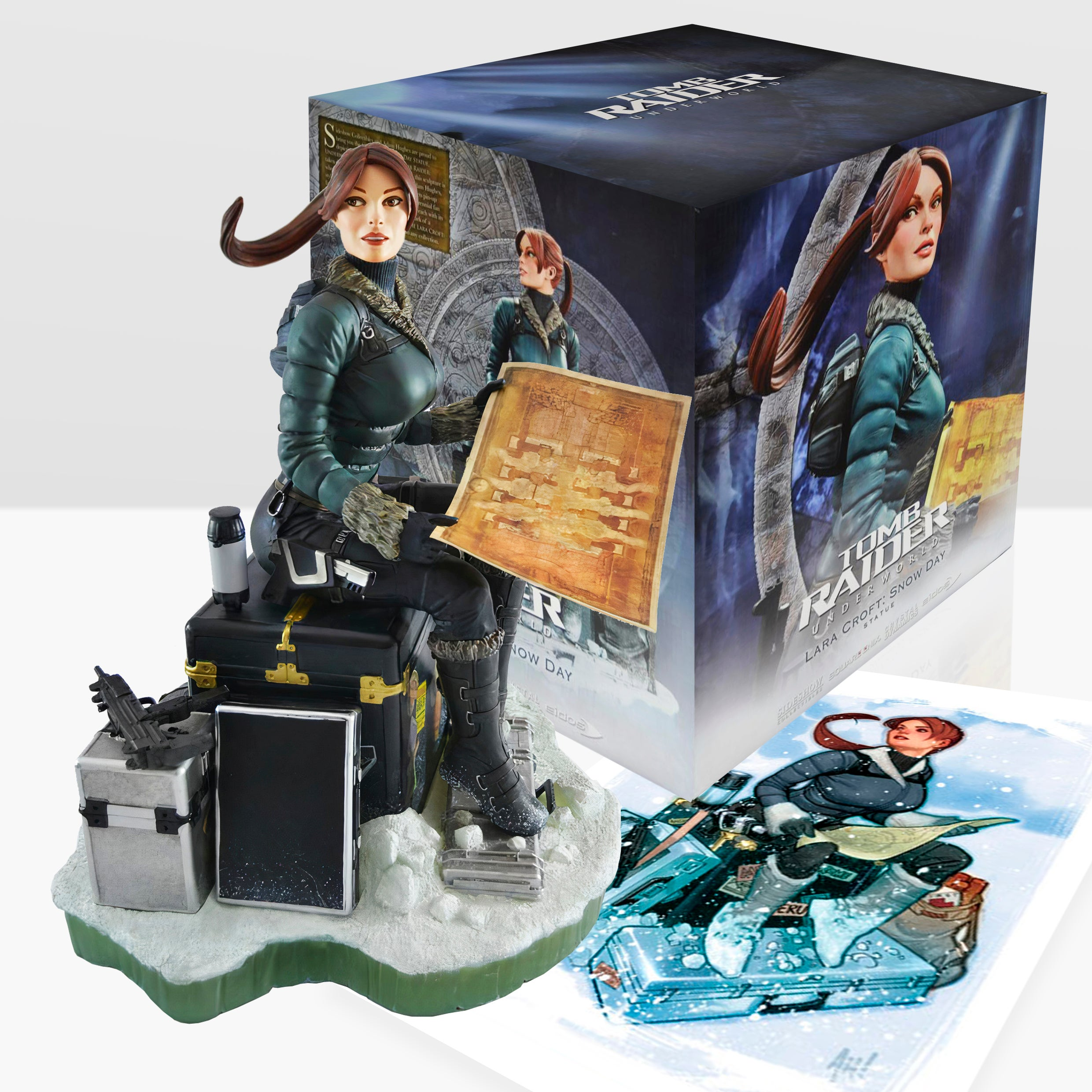A picture of the Tomb Raider: Underworld snow day statue