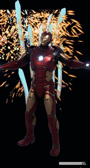 Iron Man Fireworks - Emote