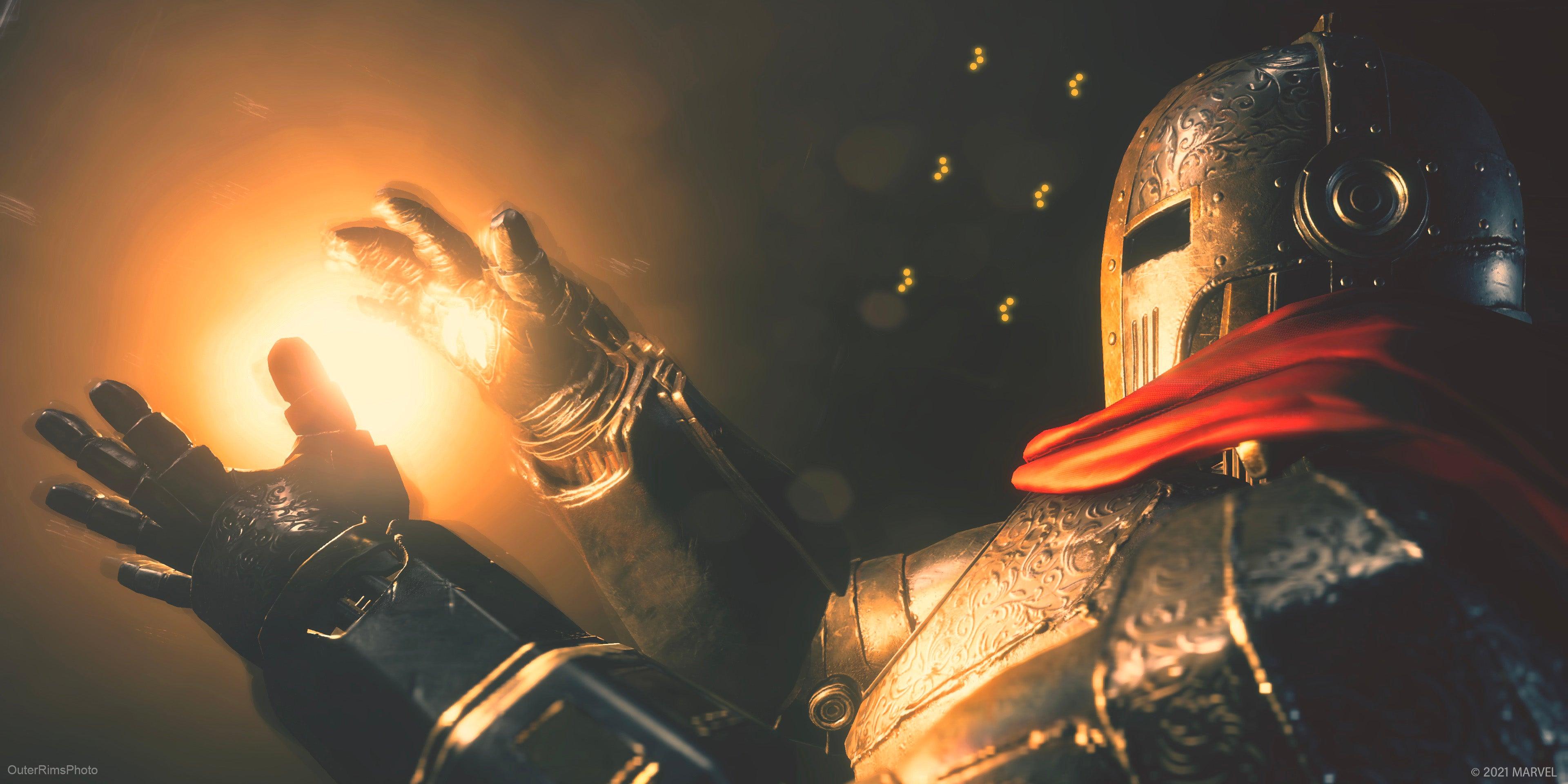 Iron Knight summoning pulsar blast. Digital Photography by OuterRimsPhoto.