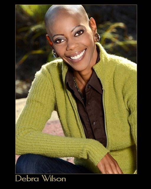 A portrait of Debra Wilson who plays Okoye in War for Wakanda