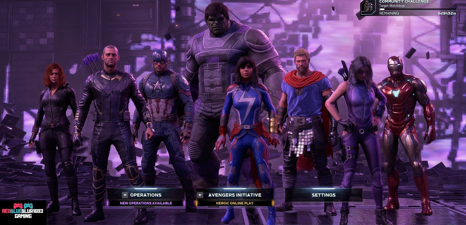 A shot of all of the Avengers geared up for battle