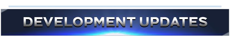 "a blue banner that says ""development updates"""