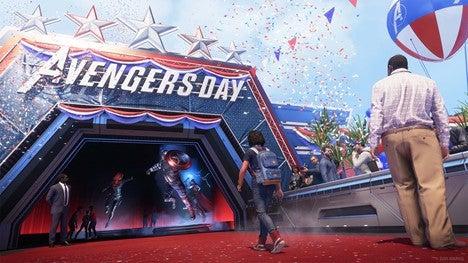Kamala Khan walks down the Avengers red carpet at the A-Day celebration