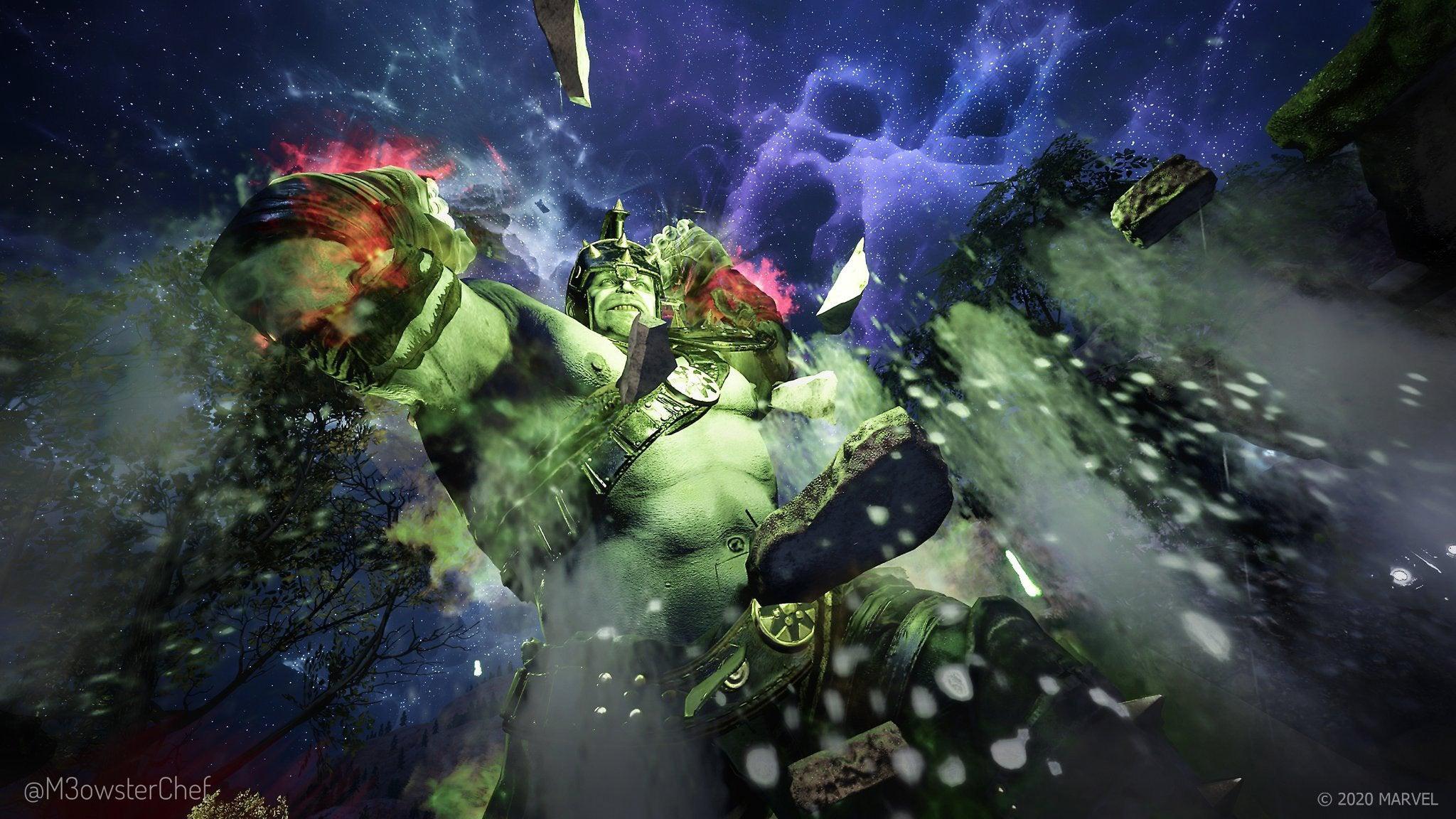 Fan Art of Hulk smashing the ground
