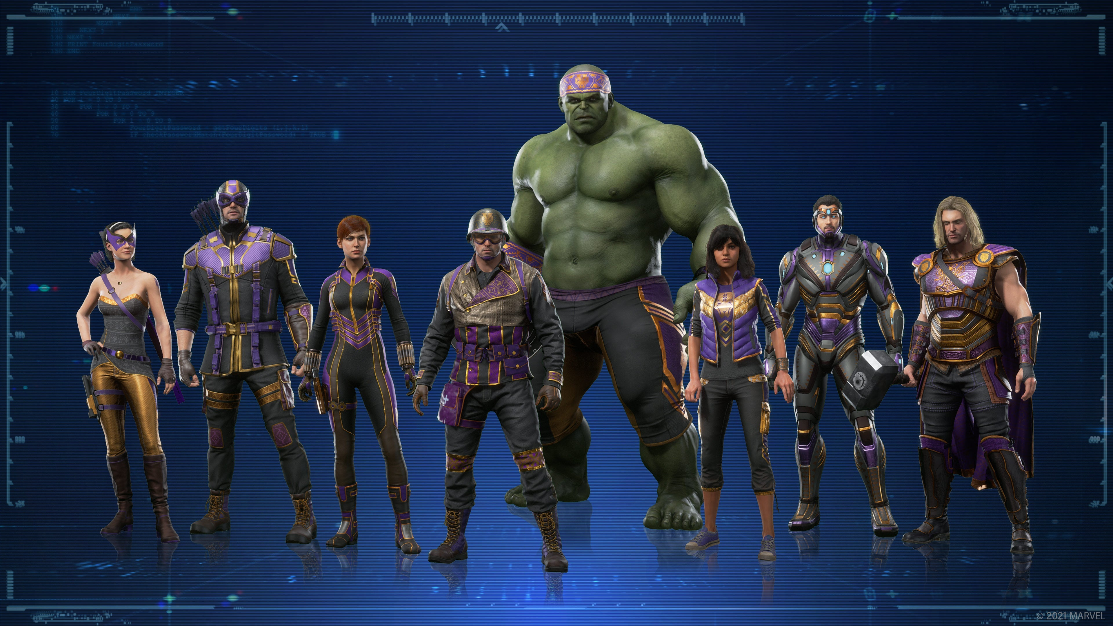 the Avengers in their Allies of Wakanda outfit set