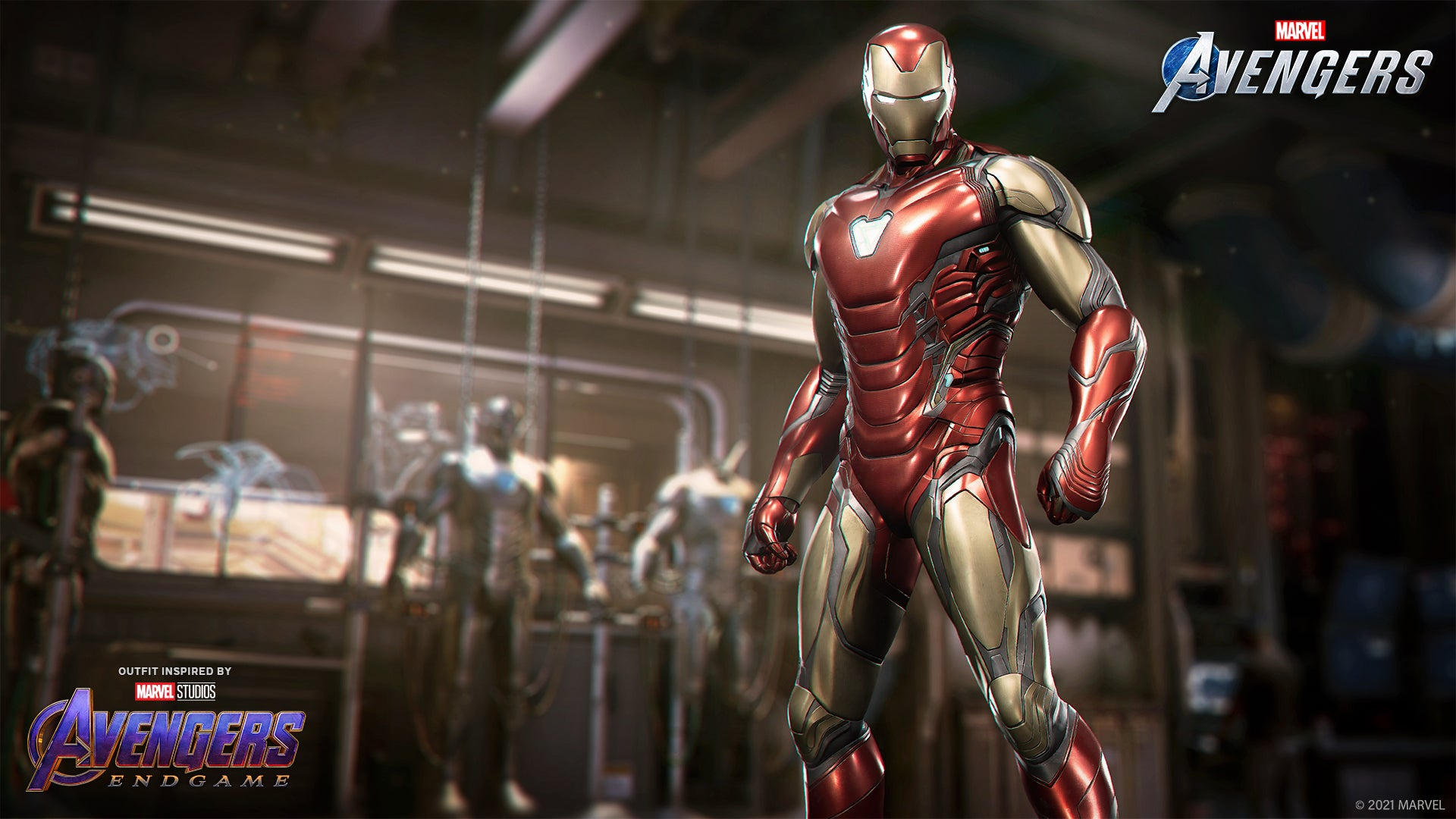 Iron Man in his Avengers: Endgame-inspired suit